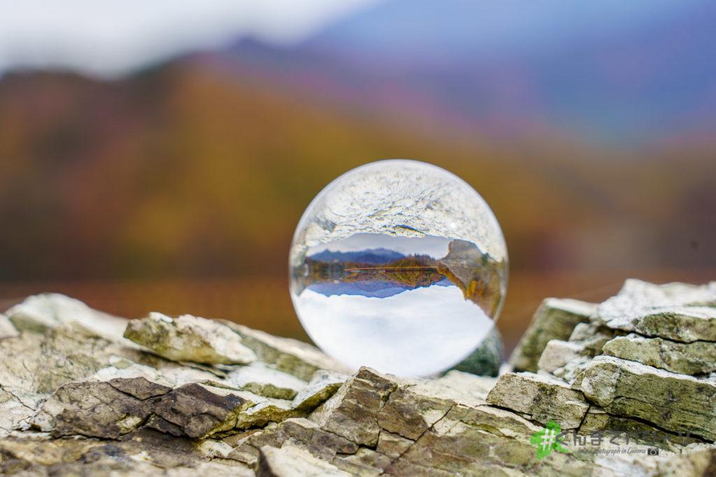 奈良俣ダムと水晶玉