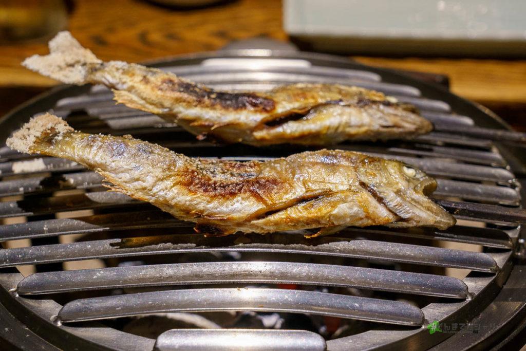辰巳館の囲炉裏料理