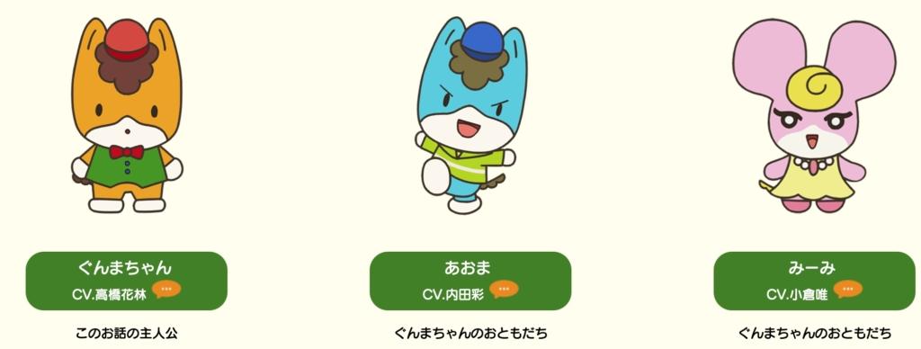 アニメぐんまちゃんキャラクター